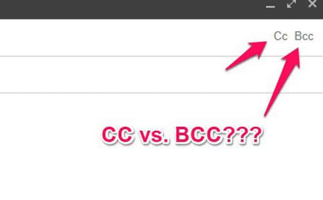 BCC email cho phép người dùng ẩn danh sách người nhận trong các email