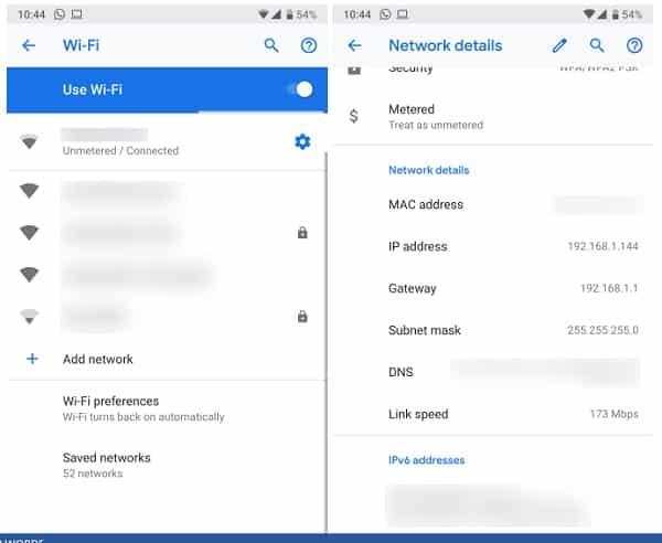 Cách xem địa chỉ IP của điện thoại Android