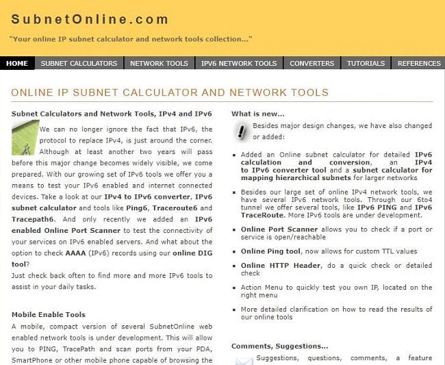 Chuyển đổi từ IPv4 sang IPv6 trực tuyến
