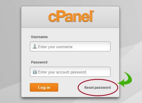 Đặt lại mật khẩu từ màn hình đăng nhập cPanel