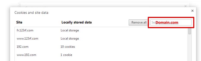 Khắc phục lỗi 400 bad request bằng cách xóa Cookie của website trên trình duyệt Chrome 4