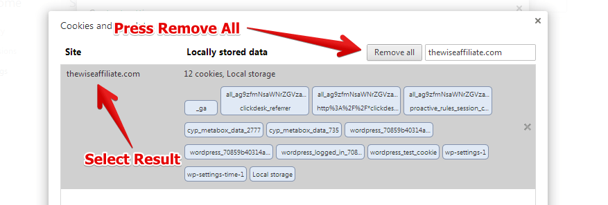 Khắc phục lỗi 400 bad request bằng cách xóa Cookie của website trên trình duyệt Chrome 5