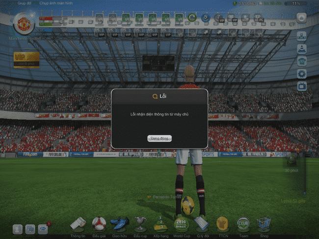 Khắc phục lỗi nhận diện thông tin từ máy chủ Fifa online 3