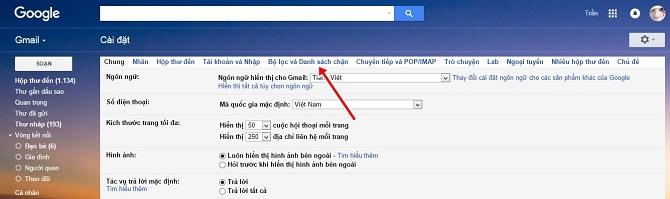 Nhấn chọn mục Bộ lọc và Danh sách chặn
