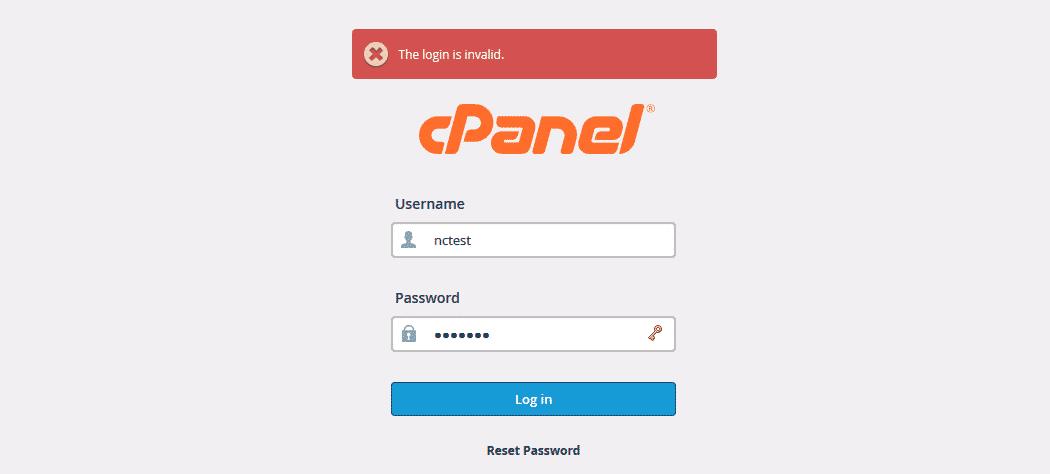 Bạn quên mật khẩu cPanel