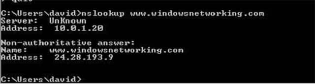 Tìm hiểu xem máy chủ DNS nào đang được sử dụng với nslookup