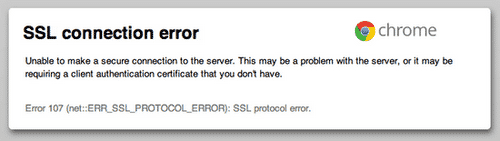 SSL Connection Error và SSL Protocol Error