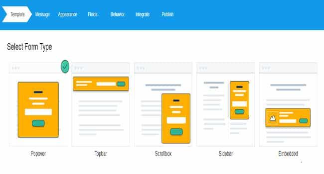 Các định dạng form đăng ký Mailchimp