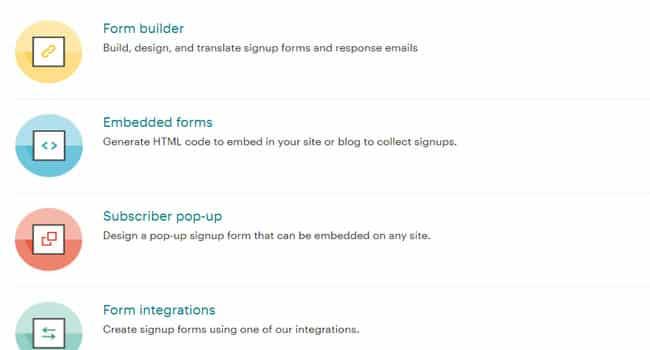 Các tính năng tùy chỉnh form đăng ký của Mailchimp
