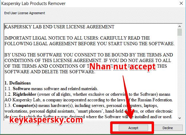 cách gỡ bỏ phần mềm diệt virus Kaspersky 1
