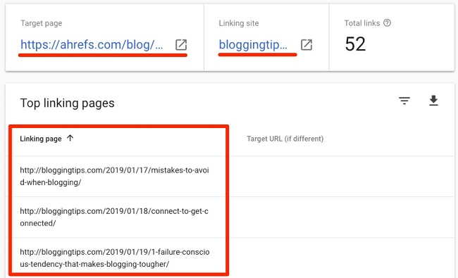 Kiểm tra backlink của website với Google Search Console 3