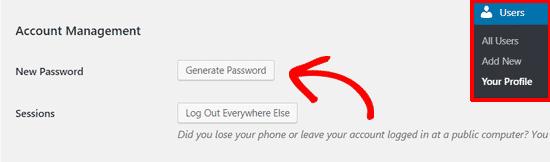 Cách thay đổi mật khẩu WordPress 1