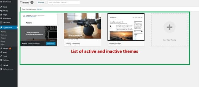 Cách remove theme wordpress