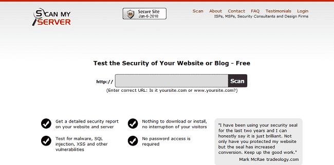 Scan My Server là công cụ quét mã độc website hiệu quả mà bạn nên lựa chọn