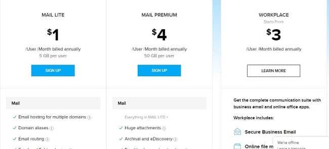 Đăng ký Email tên miền riêng miễn phí với Zoho Mail 1
