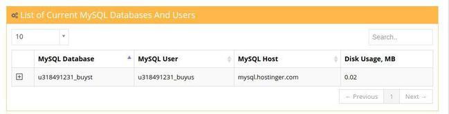 Đặt lại User gán cho Database trong mục MySQL Database (kết nối PHP với MySQL ảnh 2)