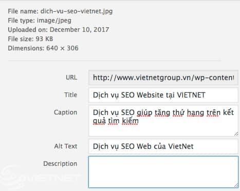tối ưu hóa ảnh cho web bằng cách đặt tên thích hợp cho thẻ ALT