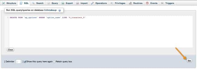 Dọn dẹp database với lệnh SQL 1