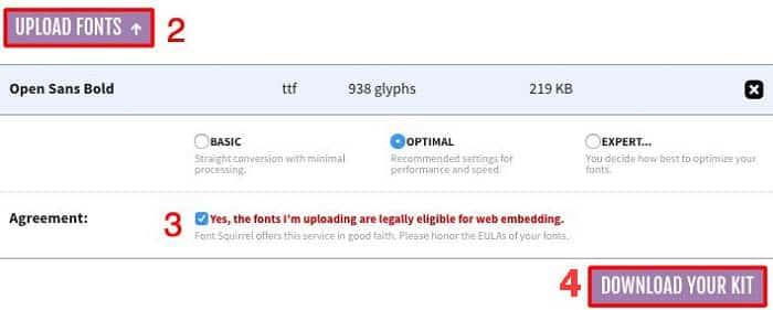 Hướng dẫn chuyển font sang định dạng thân thiện với website