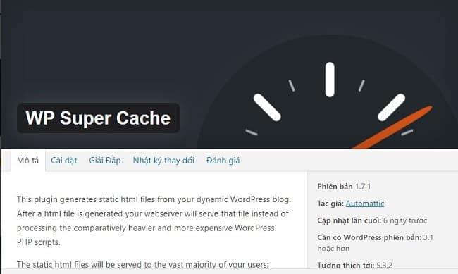 Hướng dẫn xóa Cache WordPress trên WP Super Cache