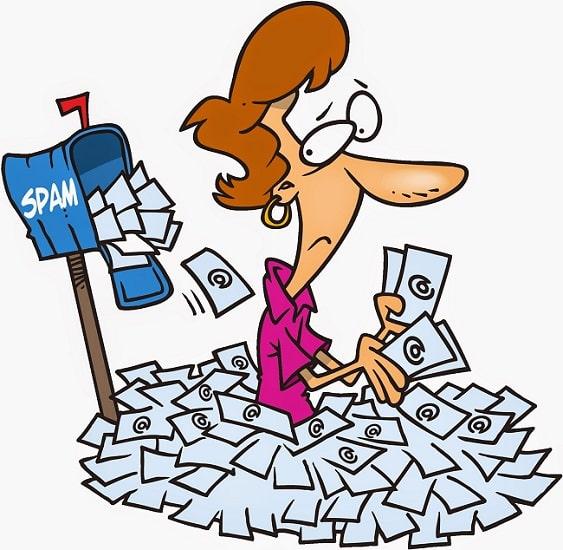 Junk mail còn được hiểu là thư rác