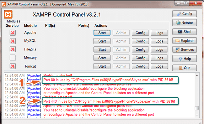 Kiểm tra phần mềm chiếm cổng 80-HTTP