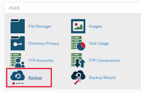 Cách lấy Database của website trên Hosting cPanel từ tính năng Backup