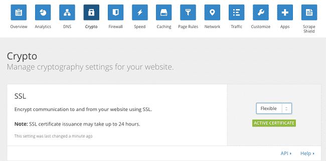 lựa chọn Flexible SSL