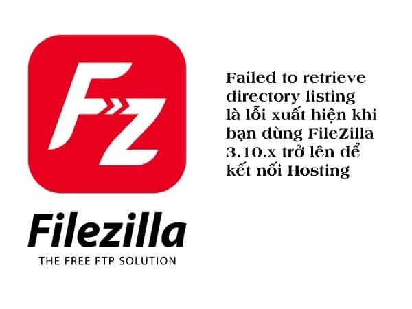 Nguyên nhân gây ra Failed to retrieve directory listing