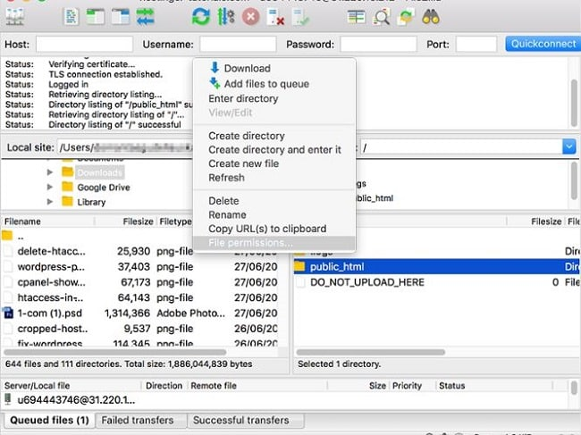 phân quyền folder hoặc file để sửa lỗi you don't have permission to access / on this server.