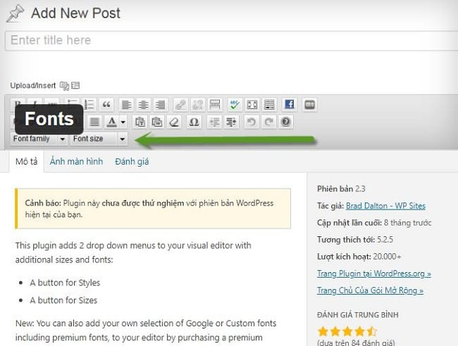 Plugin font cho wordpress Fonts