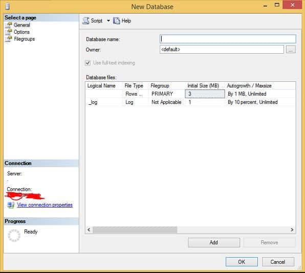Tạo Database trong SQL với Management Studio