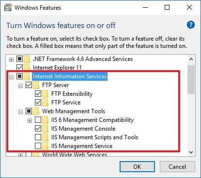 tạo FTP server trên Windows 10 2