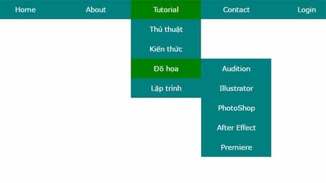 Tạo menu đa cấp trong WordPress