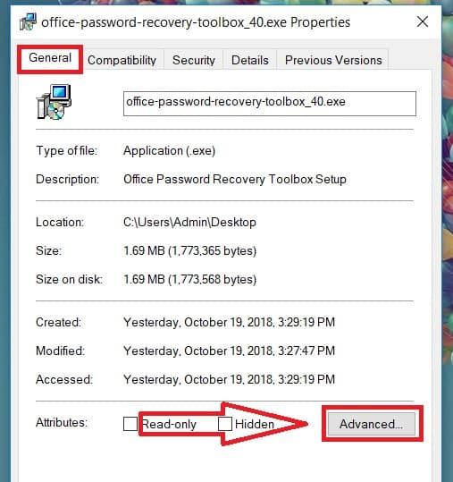 Tắt mã hoá dữ liệu để sửa lỗi lỗi access is denied win 10 2