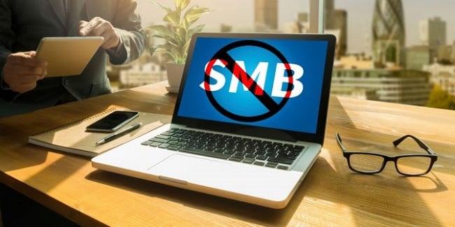 Tắt tạm dịch vụ SMB trong máy tính