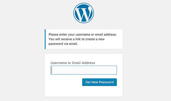 Thay đổi mật khẩu wordpress khi bị quên mật khẩu 1