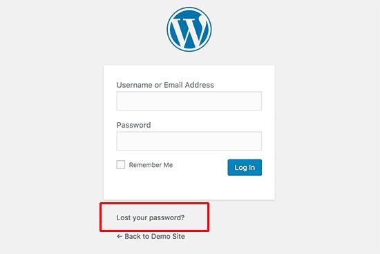 Thay đổi mật khẩu wordpress khi bị quên mật khẩu