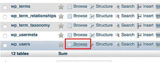 Thay đổi mật khẩu wordpress từ database 2