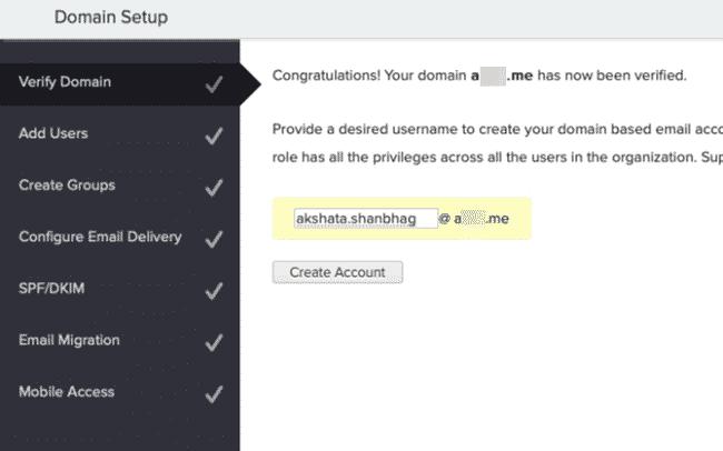 Thêm và xác minh để tạo Email tên miền miễn phí với Zoho Mail 1