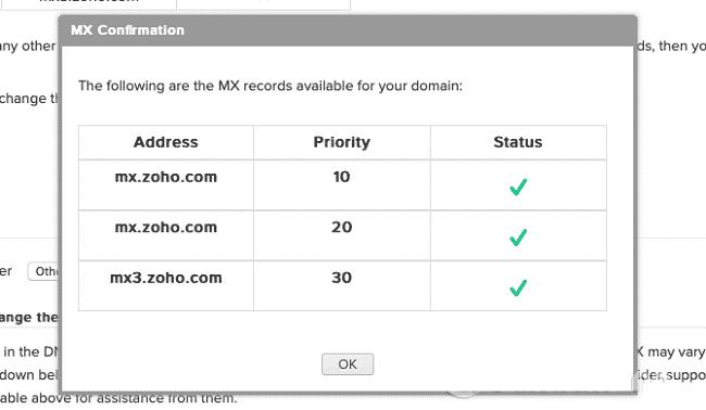 Thiết lập bản ghi MX để hoàn thành việc tạo Email tên miền riêng miễn phí với Zoho Mail