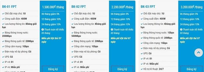 Dịch vụ cho thuê chỗ đặt máy chủ tại BKNS