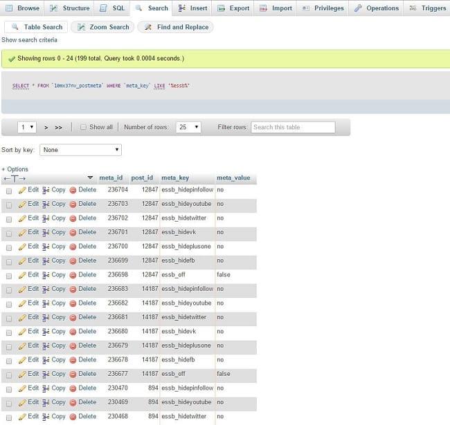 Tìm và xóa các giá trị database không sử dụng 3
