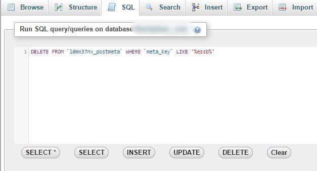 Tìm và xóa các giá trị database không sử dụng 5