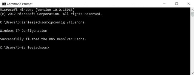Khắc phục lỗi 502 bad gateway xóa bộ nhớ đệm DNS cục bộ