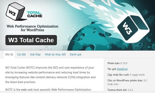 Xóa Cache WordPress trên W3 Total Cache