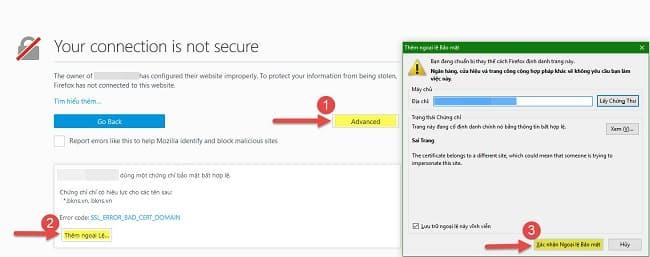 Xuất và nhập chứng chỉ SSL của trang web