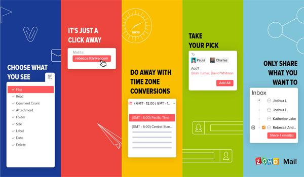 Zoho Mail sở hữu nhiều tính năng vượt trội
