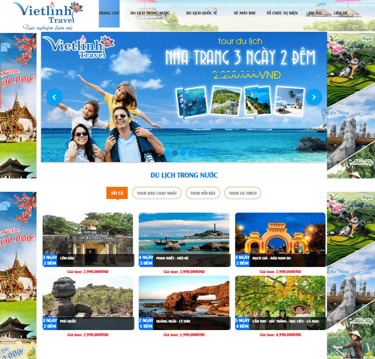 Các bước thiết kế website du lịch