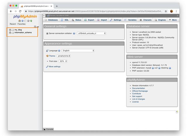 Backup database MySql bằng phpMyAdmin 1